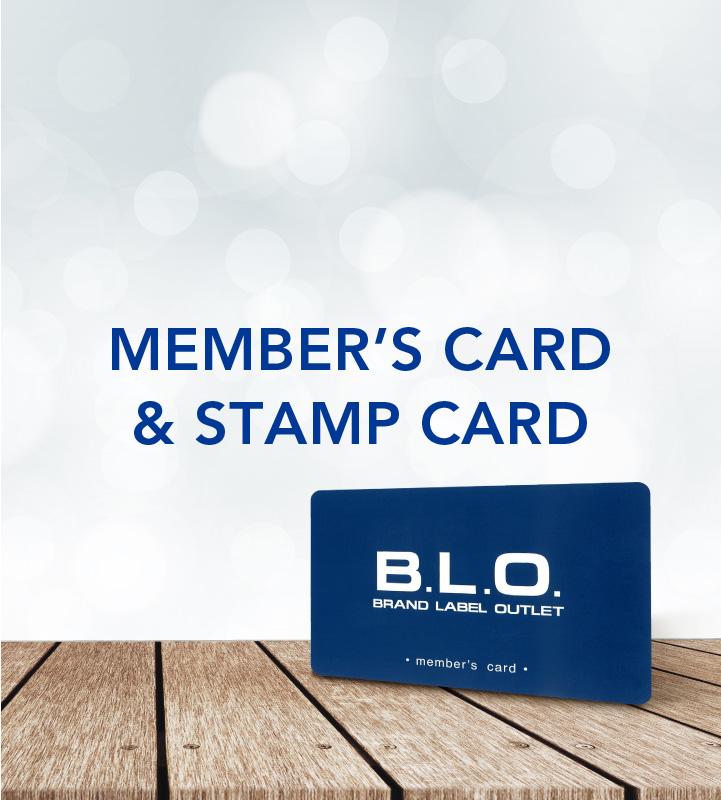 MEMBERS' CARD  &  STAMP CARD